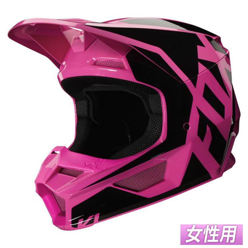 \5/5★キャッシュレス実質9%引/【女性用】FOX フォックス V1 PRIX Pink 2020モデル レディース モトクロスヘルメット オフロードヘルメット バイク かわいい プリ ピンク アウトレット(ピンク)(AMACLUB)