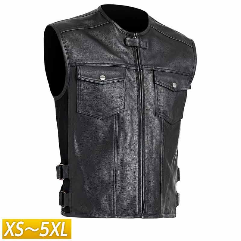 【XS~5XL】Street & Steel ストリート&スチール Concord Leather Vest レザーベスト ライディングジャケット バイクウェア ライダー バイク ハーレー ツーリングにも かっこいい アメリカン コンコード 大きいサイズ あり アウトレット【AMACLUB】