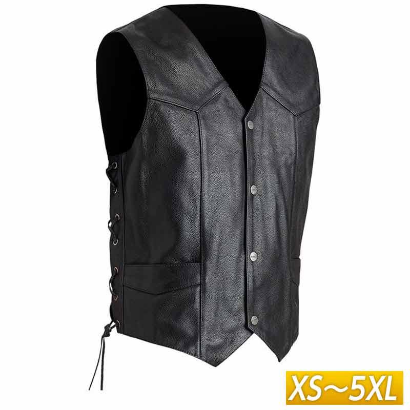 【XS~5XL】Street & Steel ストリート&スチール Highway Leather Vest レザーベスト ライディングジャケット バイクウェア ライダー バイク ハーレー ツーリングにも かっこいい アメリカン ハイウェイ 大きいサイズ あり アウトレット【AMACLUB】