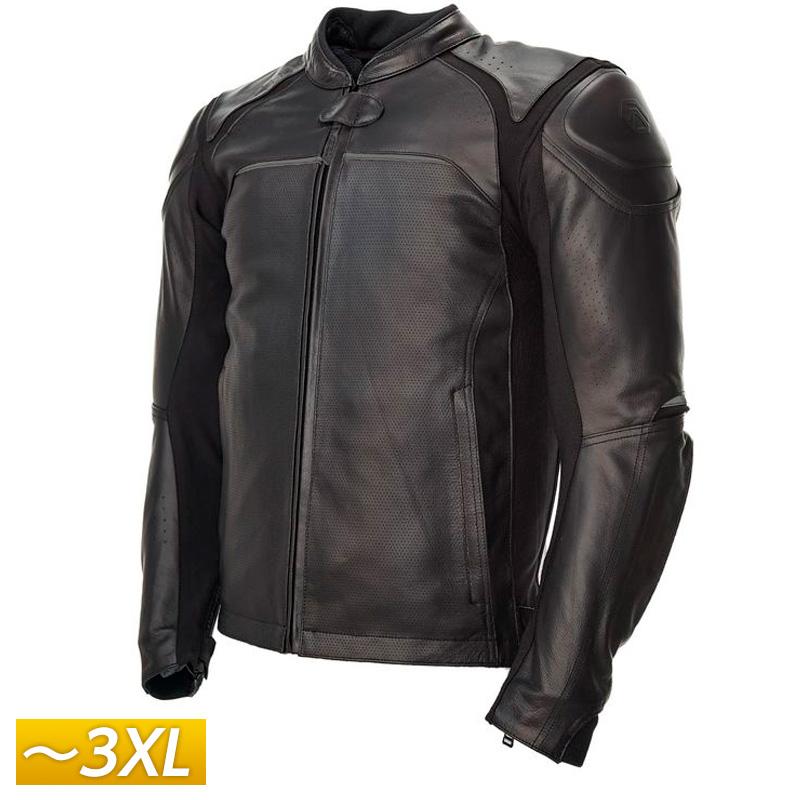 【3XLまで】REAX リアックス Jackson Leather レザージャケット 革 ライディングジャケット バイクウェア プロテクター ライダー バイク ハーレー ツーリングにも シンプル かっこいい ジャクソン 大きいサイズ あり アウトレット【AMACLUB】