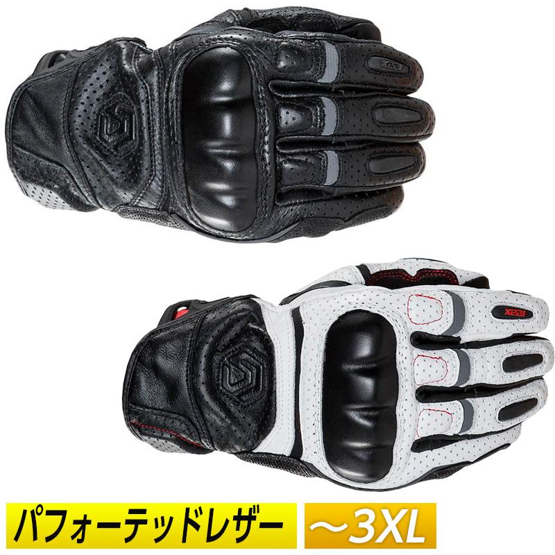 【3XLまで】REAX リアックス Castor Perforated レザーグローブ 革 手袋 ライダー バイク ツーリングにも 穴あき 通気性 春夏 サマー タッチスクリーン スマホ シンプル かっこいい アメリカ キャスター パフォーテッド 大きいサイズ あり アウトレット【AMACLUB】