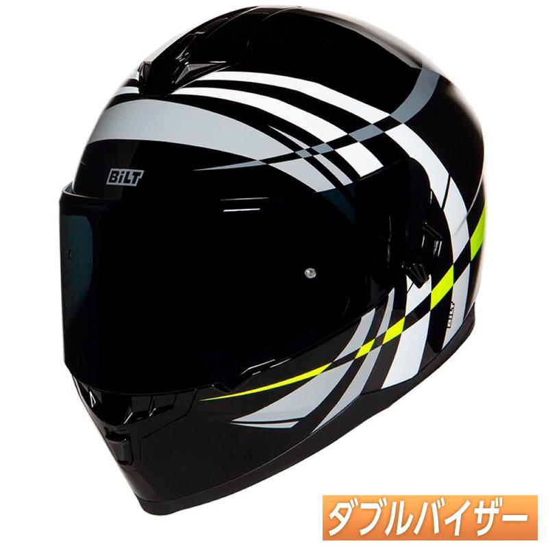 【ダブルバイザー】Bilt ビルト Force Latitude フルフェイスヘルメット サンバイザー サンシールド ライダー バイク ツーリング アメリカン かっこいい フォース ラティテュード アウトレット【AMACLUB】