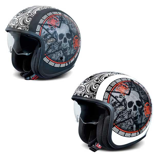 【フリップダウンバイザー】Premier プレミア Vintage Sk Jet Helmet ジェットヘルメット ヴィンテージ イタリアブランド ツーリングにも バイク アウトレット オープンフェイス ハードデザイン 【マットブラック】【ホワイト】【AMACLUB】 おすすめ