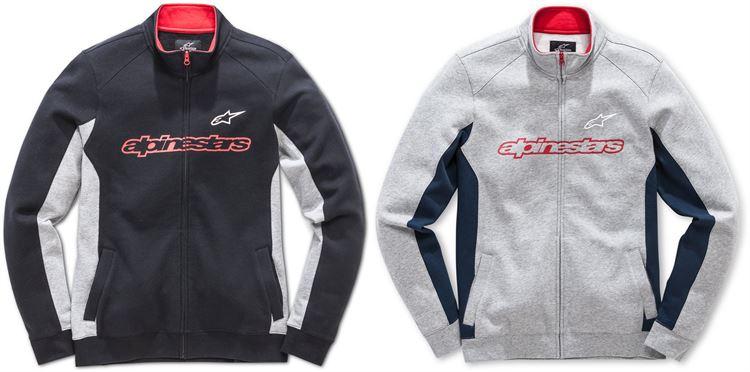 【フリース】Alpinestars Curb Fleece 2018モデル ジャケットパーカー カジュアルジャケット バイク ツーリングにも 防寒 【黒】【灰】【AMACLUB】 かっこいい