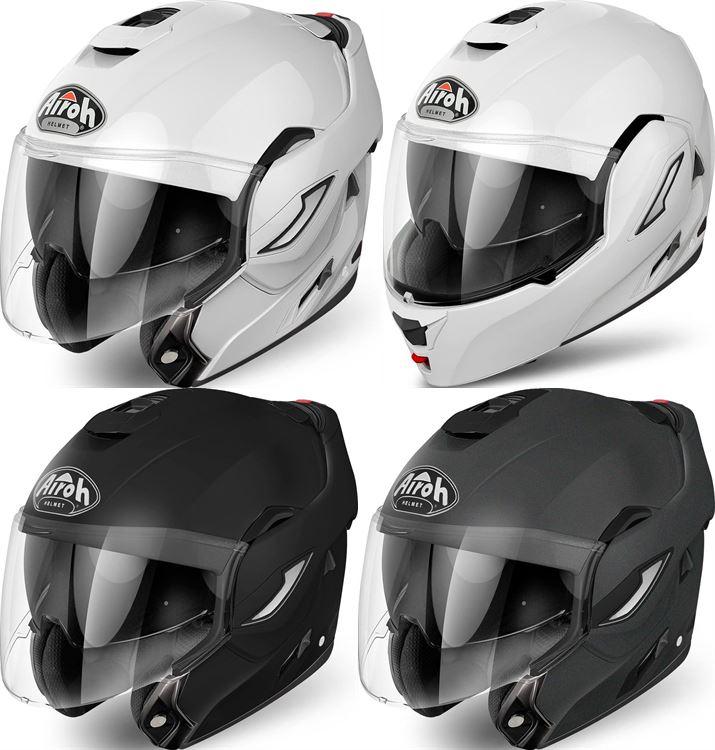 【小顔に見える】【ダブルバイザー】【フリップアップ】【インナーバイザー】Airoh Rev 2018 フルフェイス・ジェットヘルメット オシャレ オープンフェイス ツーリングにも ダブルシールド システムヘルメット 【AMACLUB】帽体 小さい 軽い 軽量 おすすめ かっこいい
