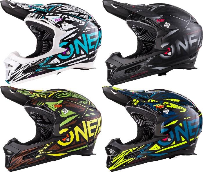 O´Neal Fury RL Synthy ヘルメット 自転車 ダウンヒル MTB XC BMX マウンテンバイク ロード クロスカントリー 【白青】【黒緑】【黄青】【AMACLUB】【かっこいい】 街乗り