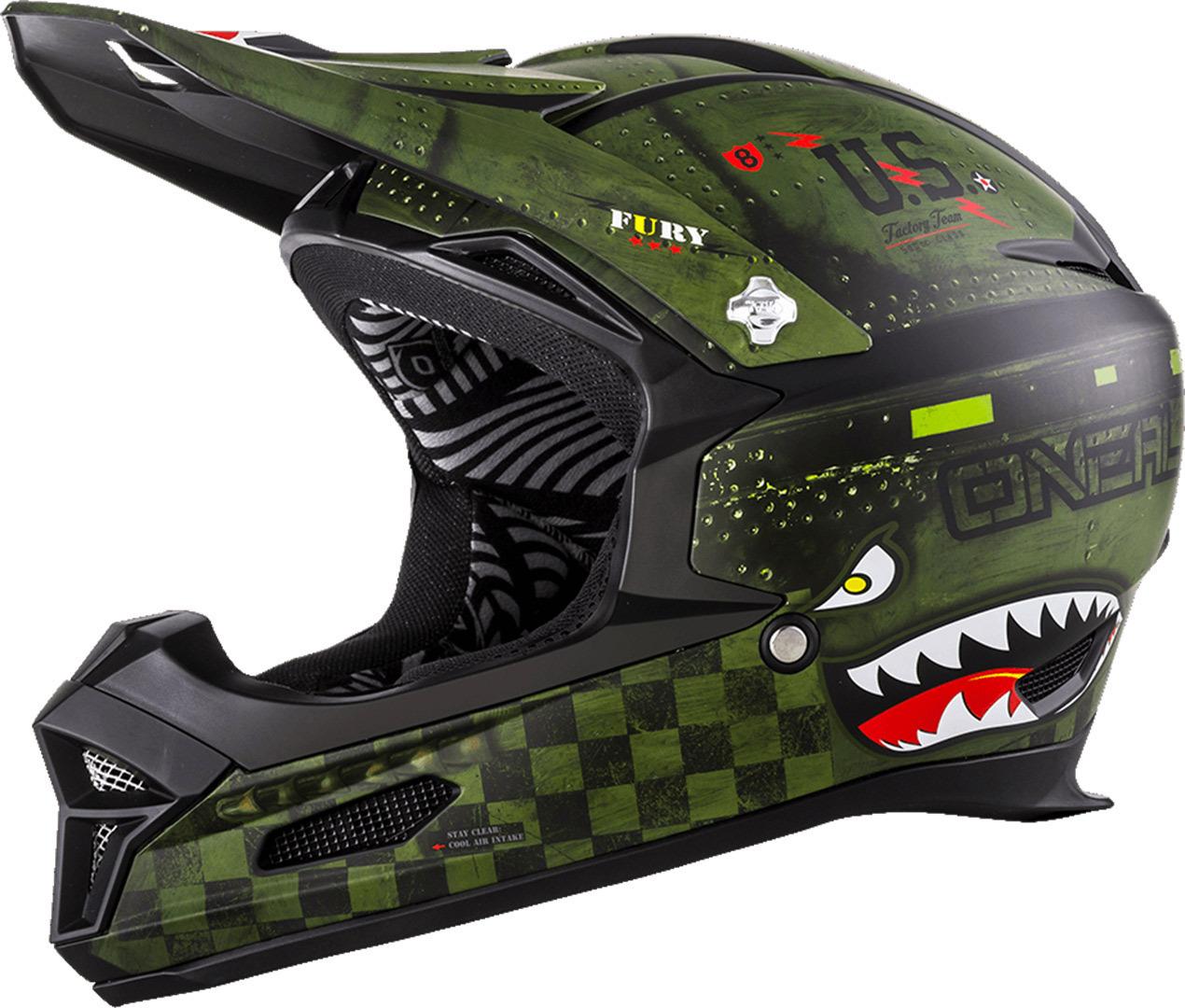 O´Neal Fury RL Warhawk 2018モデル ヘルメット 自転車 ダウンヒル MTB XC BMX マウンテンバイク ロード クロスカントリー 【WARHAWK】【AMACLUB】【かっこいい】