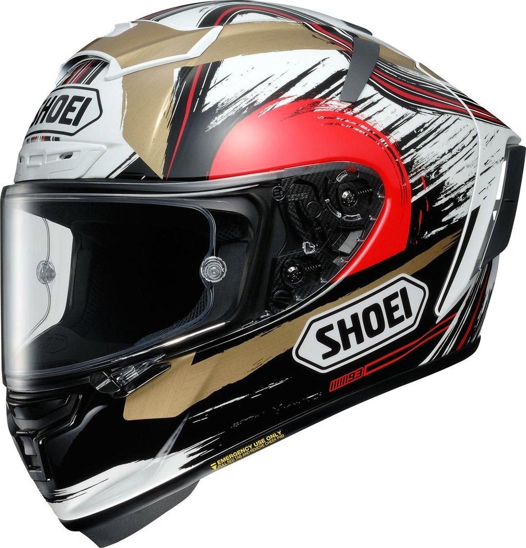 【廃盤モデル】Shoei X-Spirit III Marquez Motegi 2 フルフェイス ヘルメット レーシング ツーリングにも ライダー バイク オンロード 【TC-1 (RED-WHITE)】【AMACLUB】【かっこいい】