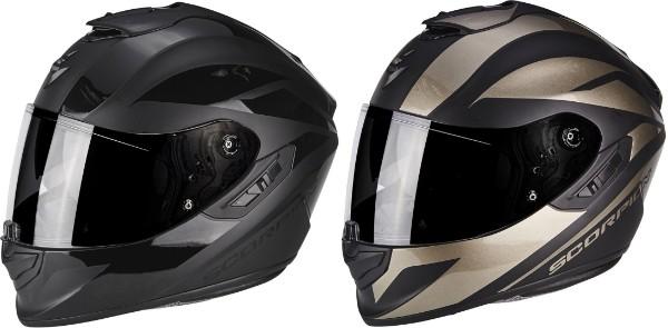 \5/5★キャッシュレス実質9%引/Scorpion EXO 1400 Air Freeway ll 2019モデル フルフェイス ヘルメット レーシング バイク オンロード 【黒チタン】【AMACLUB】【かっこいい】 街乗り