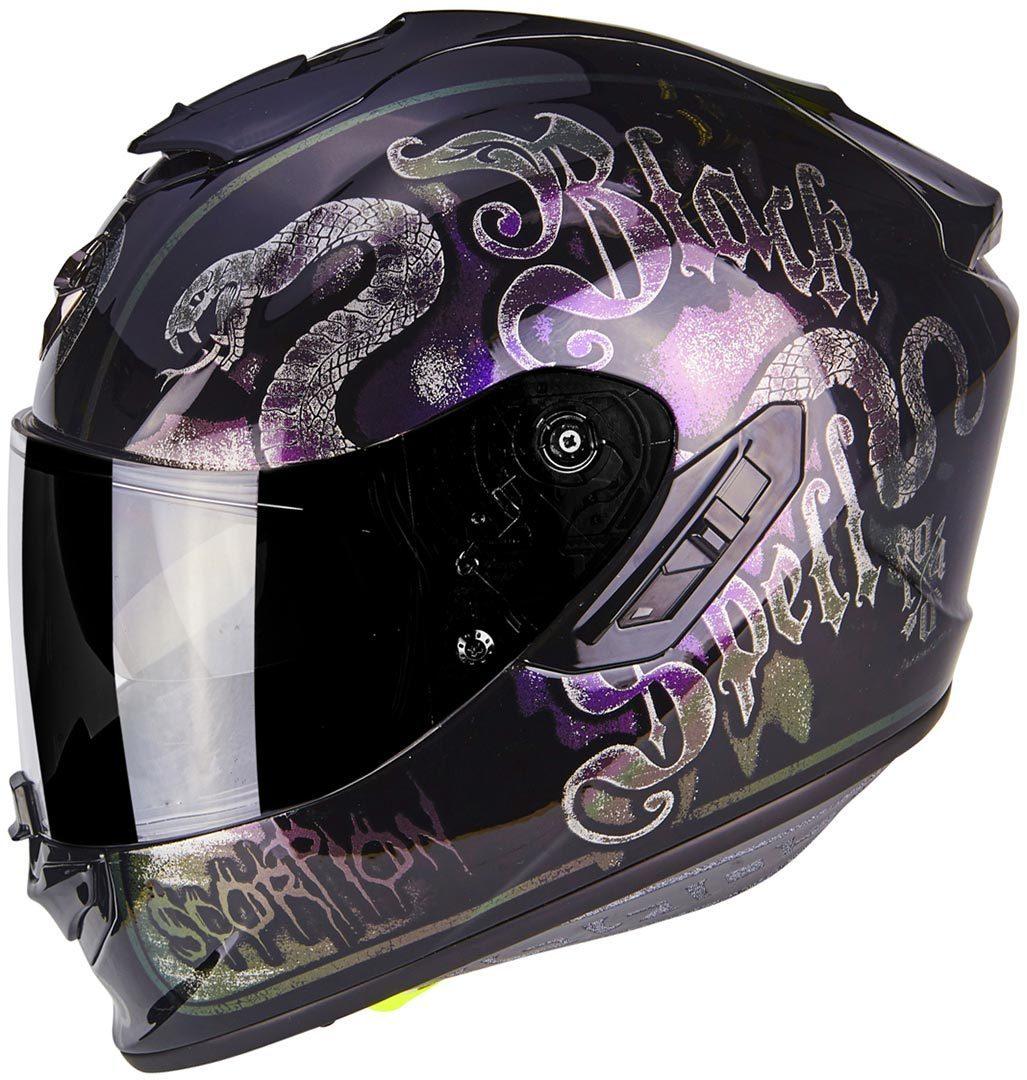 \5/5★キャッシュレス実質9%引/Scorpion EXO 1400 Air Blackspell 2019モデル フルフェイス ヘルメット レーシング ツーリングにも バイク オンロード 黒【AMACLUB】【かっこいい】 街乗り