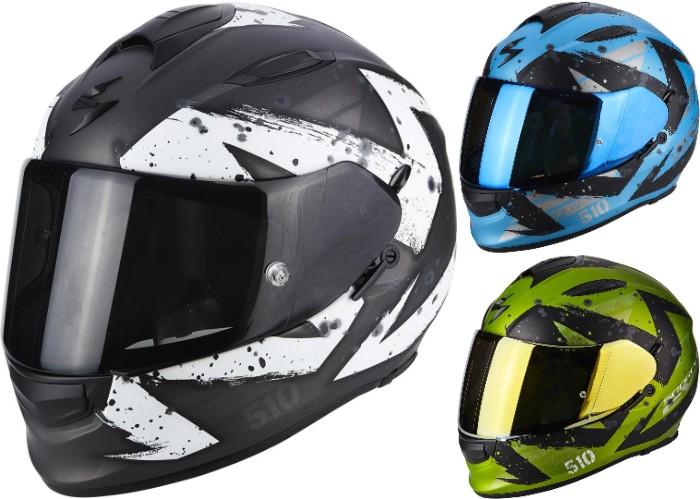 \5/5★キャッシュレス実質9%引/Scorpion Exo 510 Air Marcus フルフェイス ヘルメット レーシング ツーリングにも バイク オンロード 【AMACLUB】【かっこいい】 街乗り
