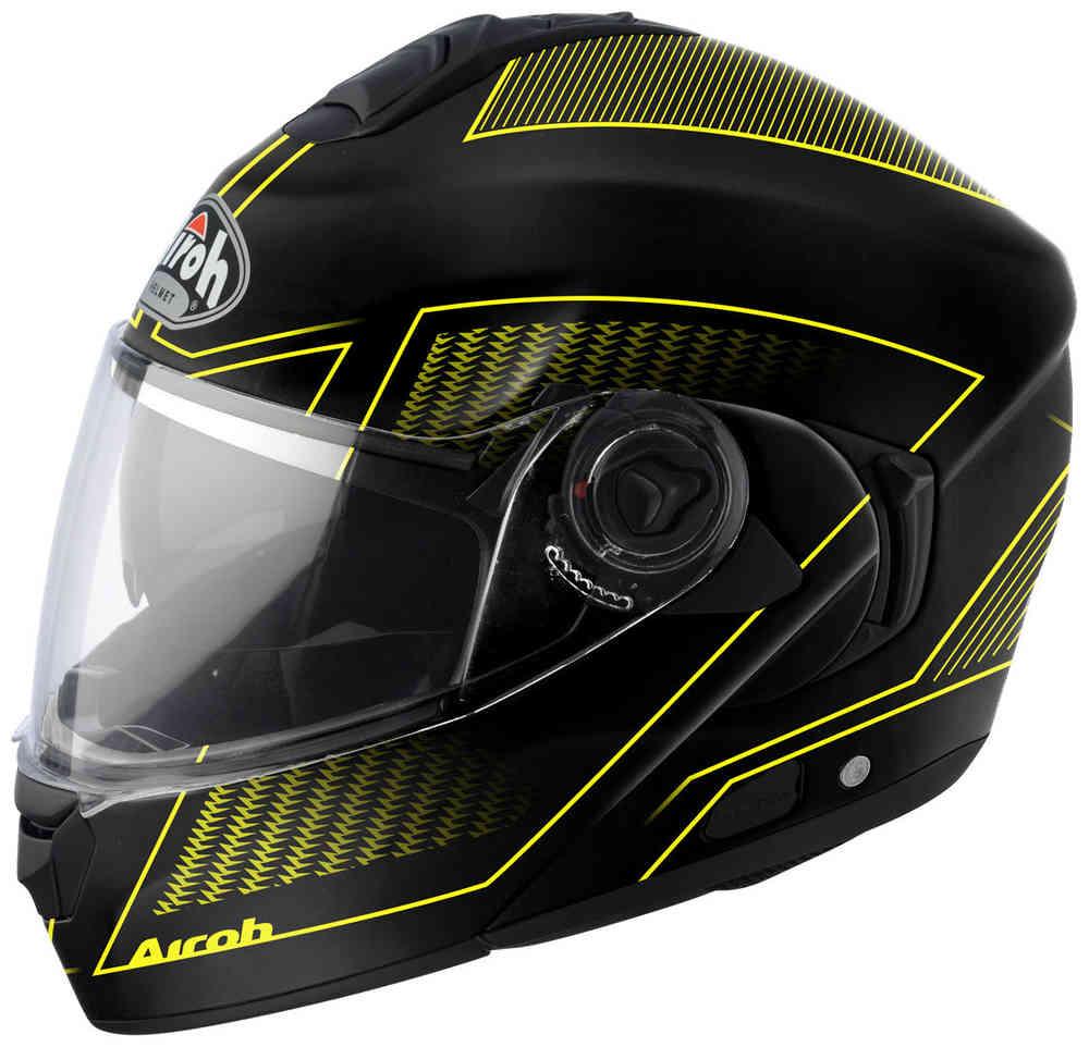 \5/5★キャッシュレス実質9%引/【フリップアップ】Airoh アイロー Rides Land フルフェイスヘルメット システムヘルメット ライダー バイク ツーリングにも かっこいい おすすめ (AMACLUB)
