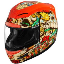 \5/5★キャッシュレス実質9%引/Icon アイコン Airmada Dia de Los Muertos Helmet フルフェイスヘルメット ライダー バイク ツーリングにも かっこいい おすすめ (AMACLUB)