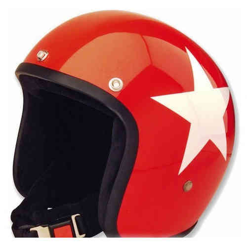 \5/5★キャッシュレス実質9%引/Bandit バンディット Jet Star Red Jet Helmet ジェット ヘルメットライダー バイク ツーリングにも かっこいい アウトレット (AMACLUB)
