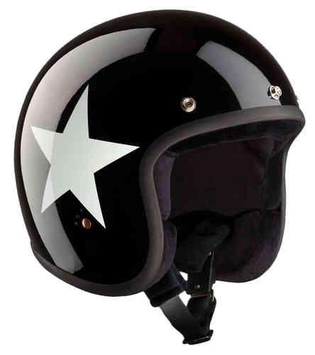 \5/5★キャッシュレス実質9%引/Bandit バンディット ECE Jet Star Jet Helmet ジェット ヘルメットライダー バイク ツーリングにも かっこいい アウトレット (AMACLUB)