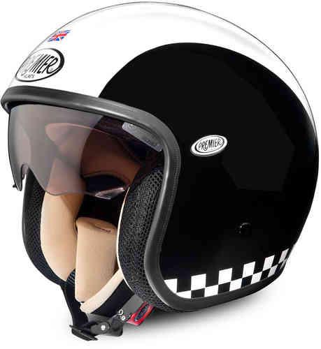 \5/5★キャッシュレス実質9%引/Premier プレミア Vintage Retro ジェットヘルメットライダー バイク ツーリングにも かっこいい アウトレット (AMACLUB)