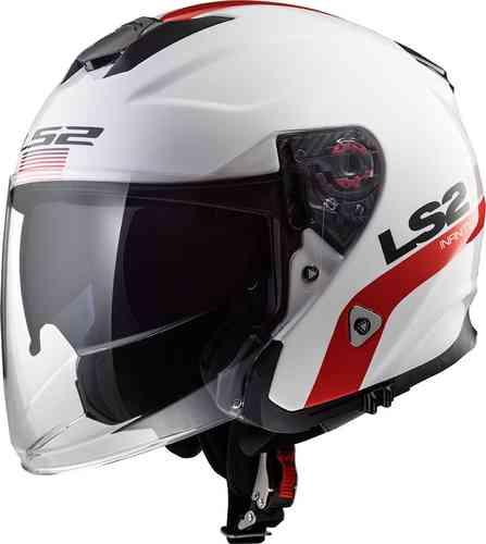 \5/5★キャッシュレス実質9%引/【ダブルバイザー】LS2 エルエスツー OF521 Infinity Smart ジェットヘルメット オープンフェイス サンバイザー バイク (AMACLUB)(値下げ・約17%OFF)(Vol.15)