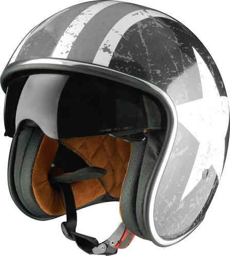 \5/5★キャッシュレス実質9%引/Origine オリジネ Sprint Rebel Star ジェットヘルメット オープンフェイスヘルメット 内部サンバイザー ライダー バイク ツーリングにも かっこいい おすすめ (AMACLUB)