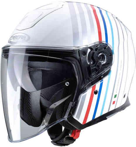 \5/5★キャッシュレス実質9%引/Caberg カバーグ Flyon Bakari ジェットヘルメット オープンフェイス サンバイザー ライダー バイク ツーリングにも かっこいい おすすめ (AMACLUB)