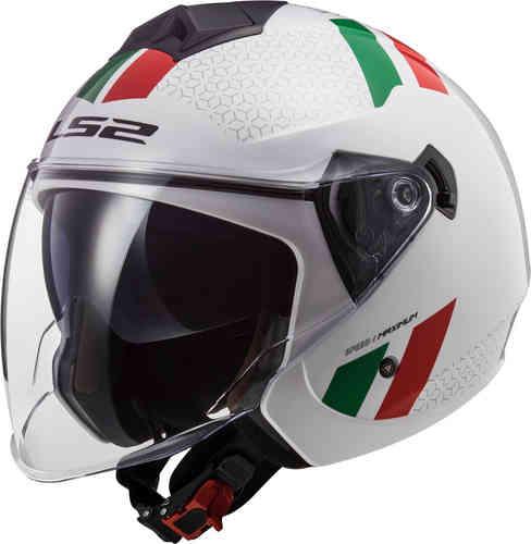 \5/5★キャッシュレス実質9%引/【ダブルバイザー】LS2 エルエスツー OF573 Twister II Combo ジェットヘルメット オープンフェイスヘルメット 内部サンバイザー バイク ツーリングにも かっこいい(AMACLUB)