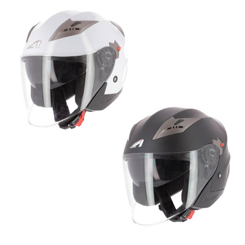 \5/5★キャッシュレス実質9%引/Astone DJ9 Monocolor ジェットヘルメット フリップアップサンバイザー ライダー バイク ツーリングにも かっこいい おすすめ (AMACLUB)