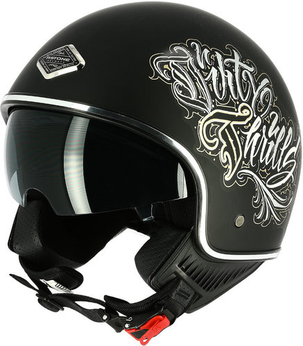 \5/5★キャッシュレス実質9%引/Astone アストーン Dirty Thrills ジェットヘルメット サンバイザー ライダー バイク ツーリングにも かっこいい おすすめ (AMACLUB)