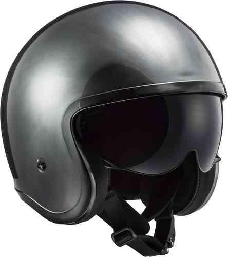 \5/5★キャッシュレス実質9%引/LS2 エルエスツー OF599 Spitfire Jeans Titanium ジェットヘルメット オープンフェイスヘルメット サンバイザー バイク ツーリングにも かっこいい(AMACLUB)