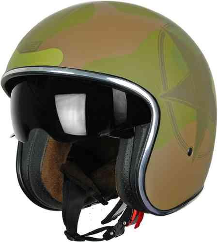 \5/5★キャッシュレス実質9%引/Origine オリジネ Sprint Army Green ジェットヘルメット サンバイザー ライダー バイク ツーリングにも かっこいい おすすめ (AMACLUB)