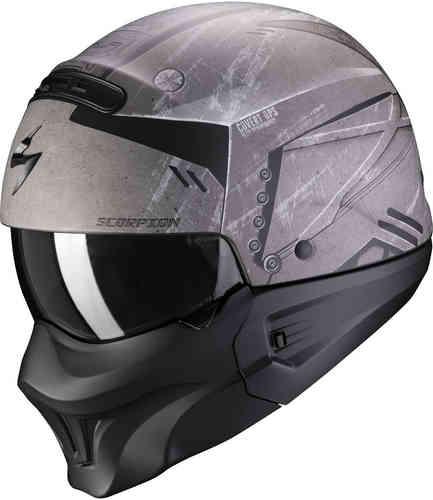 \5/5★キャッシュレス実質9%引/Scorpion スコーピオン EXO-Combat Evo Incursion ヘルメット マスク ジェットヘルメット サンバイザー ライダー バイク ツーリングにも かっこいい(AMACLUB)