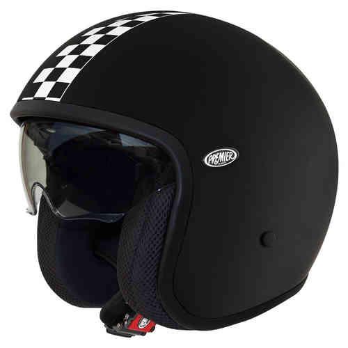\5/5★キャッシュレス実質9%引/Premier プレミア Vintage CK One ジェットヘルメット オープンフェイスヘルメット サンバイザー ライダー バイク ツーリングにも かっこいい おすすめ (AMACLUB)