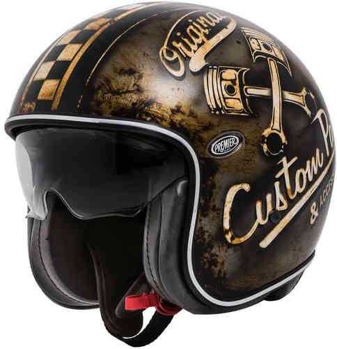 \5/5★キャッシュレス実質9%引/Premier プレミア Vintage OP 9 BM ジェットヘルメット オープンフェイスヘルメット サンバイザー ライダー バイク ツーリングにも かっこいい おすすめ (AMACLUB)