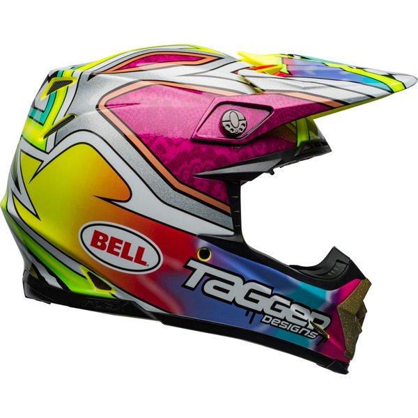 \5/5★キャッシュレス実質9%引/Bell ベル Moto-9 Carbon Flex Tagger Mayhem Helmet モトクロスヘルメット オフロードヘルメット バイク ツーリングにも かっこいい おすすめ (AMACLUB)