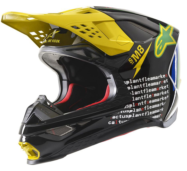 \5/5★キャッシュレス実質9%引/Alpinestars アルパインスター SM8 Cactus Plant Flea Market LE Helmet モトクロスヘルメット オフロードヘルメット バイク かっこいい(AMACLUB)