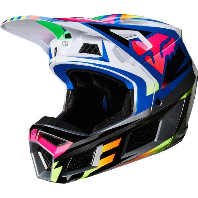 \5/5★キャッシュレス実質9%引/Fox Racing フォックス V3 Idol Helmet オフロードヘルメット モトクロスヘルメット ライダー バイク ツーリングにも かっこいい おすすめ (AMACLUB)