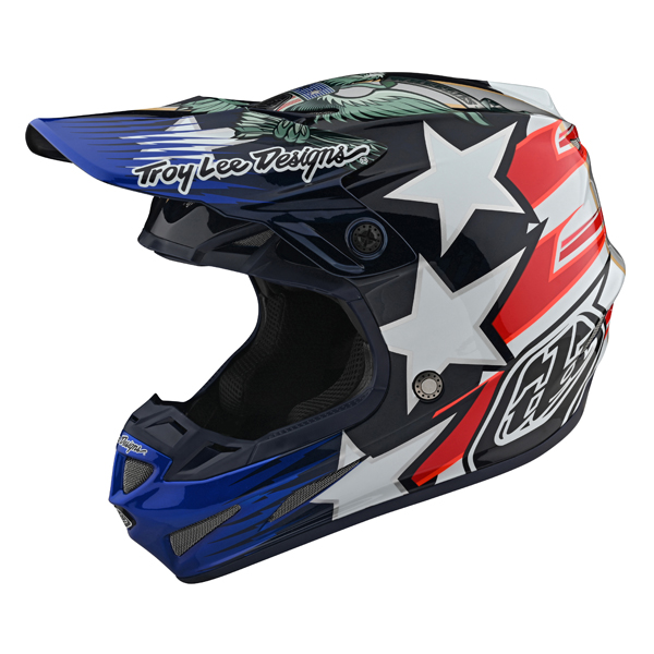 TROY LEE DESIGNS トロイリーデザイン SE4 LIBERTY LE CARBON HELMET オフロードヘルメット モトクロスヘルメット ライダー バイク ツーリングにも かっこいい おすすめ (AMACLUB)