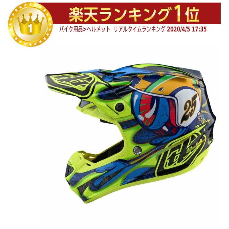 TROY LEE DESIGNS トロイリーデザイン SE4 COMPOSITE EYEBALL HELMET オフロードヘルメット モトクロスヘルメット ライダー バイク ツーリングにも かっこいい おすすめ (AMACLUB)
