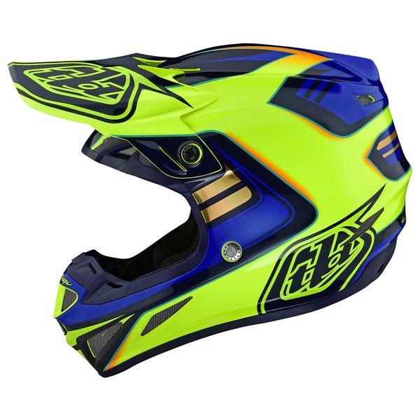 TROY LEE DESIGNS トロイリーデザイン SE4 COMPOSITE FLASH HELMETライダー バイク ツーリングにも かっこいい おすすめ (AMACLUB)