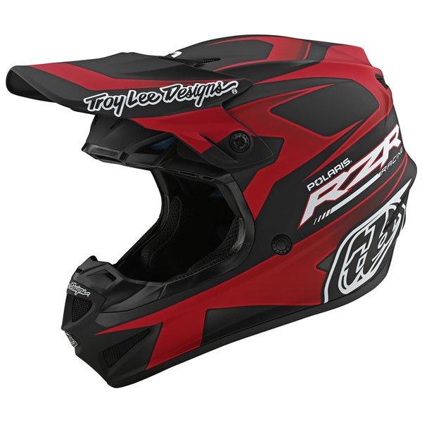 TROY LEE DESIGNS トロイリーデザイン POLARIS RZR SE4 POLY HELMET オフロードヘルメット モトクロスヘルメット ライダー バイク ツーリングにも かっこいい おすすめ (AMACLUB)