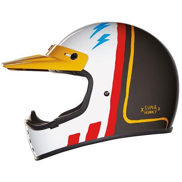 NEXX ネックス X.G200 SUPER HUNKY HELMET フルフェイスヘルメット オフロードヘルメット ピークバイザー バイク ツーリングにも かっこいい おすすめ (AMACLUB)