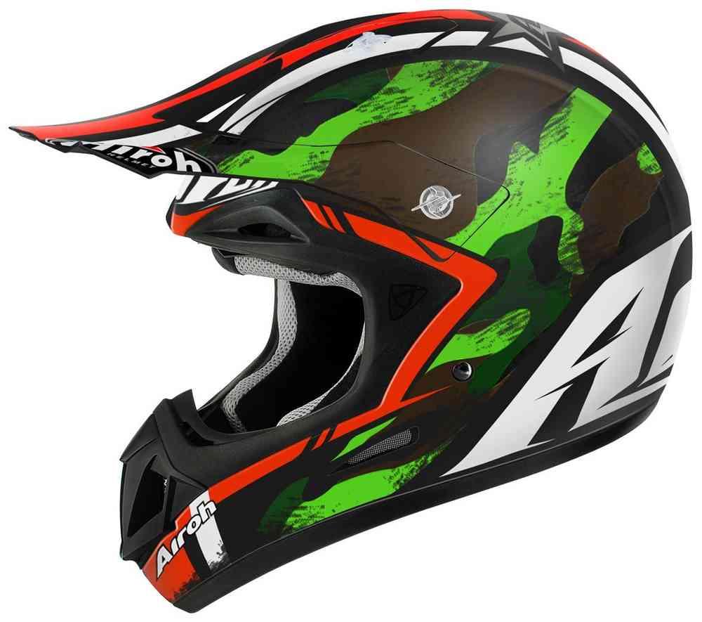 \5/5★キャッシュレス実質9%引/Airoh アイロー Jumper Warrior モトクロスヘルメット オフロードヘルメット ライダー バイク かっこいい おすすめ (AMACLUB)