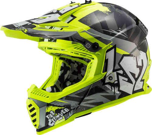 \5/5★キャッシュレス実質9%引/【子供用】LS2 エルエスツー MX437 Fast Mini Evo Crusher 子供用 キッズ モトクロスヘルメット オフロードヘルメット ライダー バイク かっこいい おすすめ (AMACLUB)