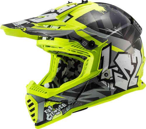 \6/5(金)限定★実質50%クーポン発行中/LS2 エルエスツー MX437 Fast Evo Crusher モトクロスヘルメット オフロードヘルメット ライダー バイク かっこいい おすすめ (AMACLUB)
