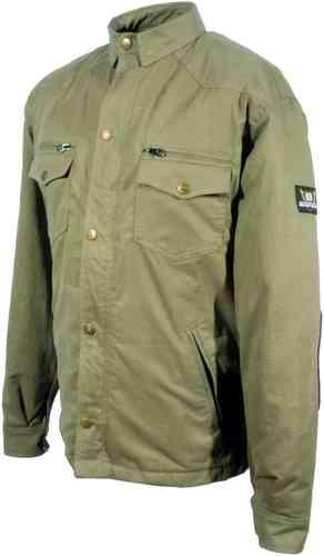 \5/5★キャッシュレス実質9%引/【6XLまで】Bores ボア Military Jack Olive シャツ ライディングシャツ カジュアルウェア バイク アウトドアにも かっこいい 3XL 4XL 5XL 6XL (AMACLUB)