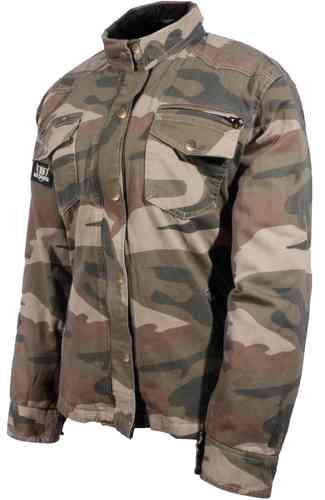 \5/5★キャッシュレス実質9%引/【6XLまで】Bores ボア Military Jack Camo シャツ カジュアルウェア オートバイ バイク アウトドアにも 迷彩 3XL 4XL 5XL 6XL (AMACLUB)