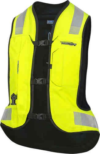 \5/5★キャッシュレス実質9%引/Helite へリート Turtle 2.0 Hi-Vis Airbag ライディングベスト ライダー バイク ツーリングにも かっこいい おすすめ (AMACLUB)
