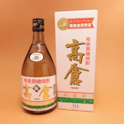 黒糖焼酎 高倉 30度 瓶 720ml 化粧箱付