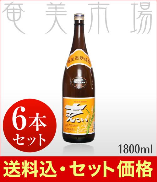 【送料込み】まんこい 30度 1800ml【6本セット】まんこい 奄美 黒糖焼酎 弥生焼酎醸造所 まんこい 一升瓶 送料込み セット価格