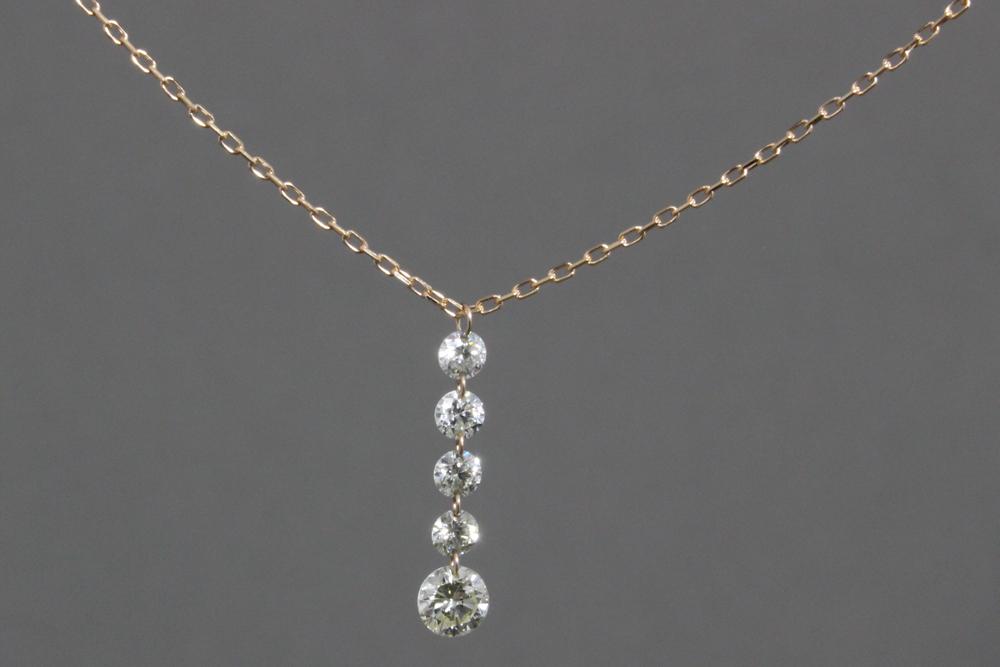 K18PG ダイヤモンド 18金ピンクゴールド ペンダント ネックレス