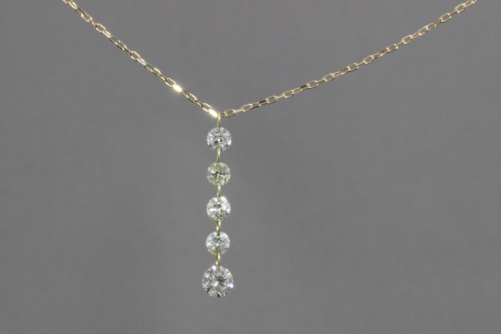K18 ダイヤモンド 18金ゴールド ペンダント ネックレス