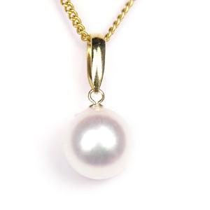 真珠 パール ネックレス あこや 送料無料 あこやパール 8.0~8.5mm K18 ゴールド ネックレスペンダント
